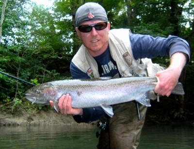 Photo of Ted's 9/16/11 Steelhead