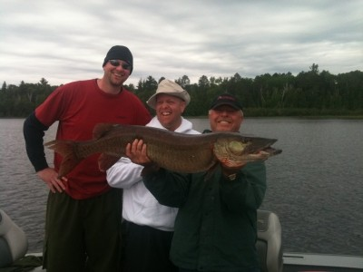 Photo of Musky Caught by Frank  with Mepps Aglia & Dressed Aglia in Minnesota