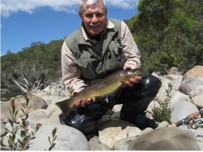 Photo of Trout Caught by Adrian  with Mepps Black Fury in Australia