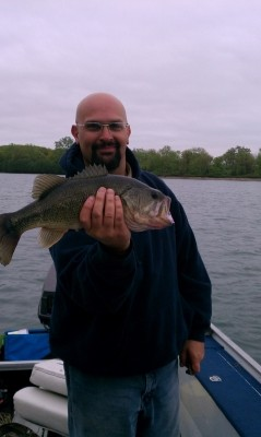 Photo of Bass Caught by Stephen with Mepps Black Fury in Michigan