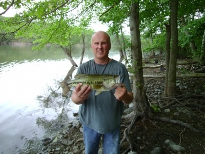 Photo of Bass Caught by Bruce with Mepps Black Fury in New Jersey