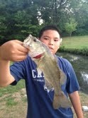 Photo of Bass Caught by Jaelon with Mepps Aglia & Dressed Aglia in New Jersey