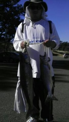 Photo of Salmon Caught by Jim with Mepps LongCast in California