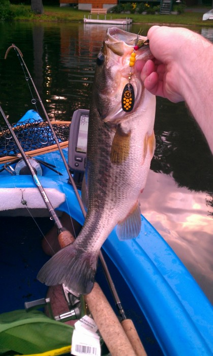 Photo of Bass Caught by Ryan with Mepps Black Fury in Maine