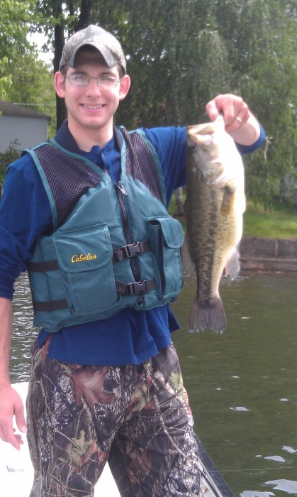 Photo of Bass Caught by Dave with Mepps Aglia & Dressed Aglia in Connecticut