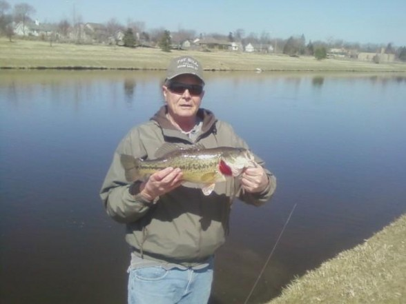 Photo of Bass Caught by Mike with Mepps Aglia & Dressed Aglia in Illinois