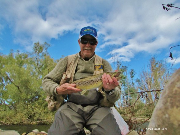 Photo of Trout Caught by Adrian with Mepps Black Fury Ultra Lites in Australia