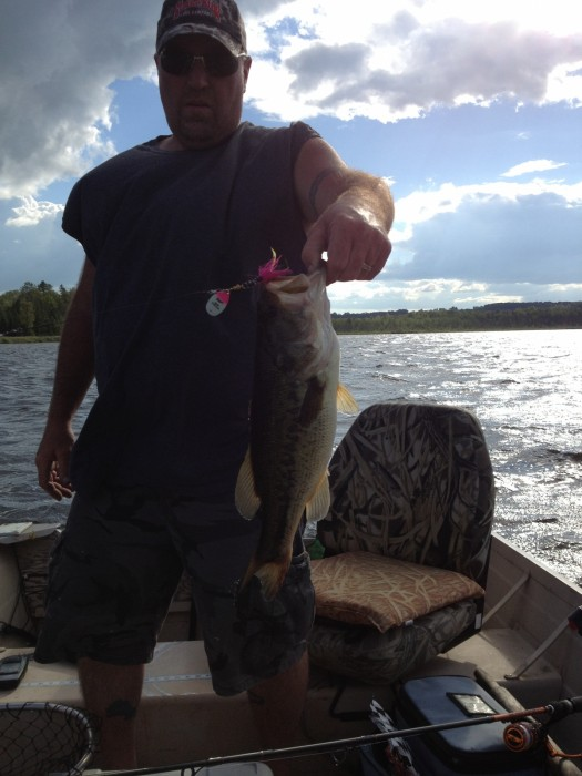 Photo of Bass Caught by Jay with Mepps Aglia & Dressed Aglia in Michigan