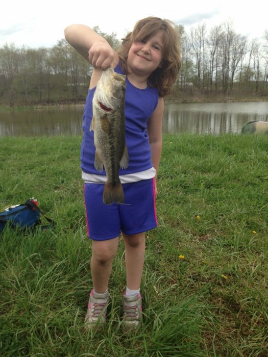 Photo of Bass Caught by Renee with Mepps Aglia & Dressed Aglia in Pennsylvania