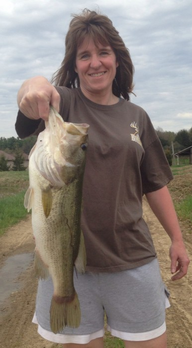 Photo of Bass Caught by Beth with Mepps Aglia & Dressed Aglia in Pennsylvania