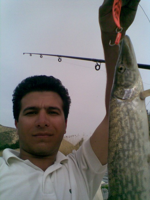 Photo of Pickerel Caught by Amir with Mepps Syclops in Iran