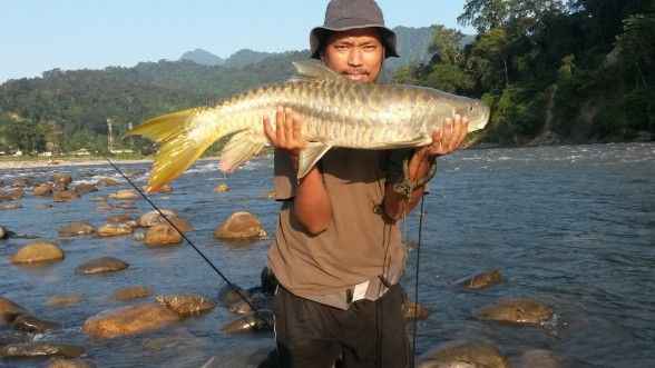 Photo of Carp Caught by Bhuto with Mepps LongCast in India