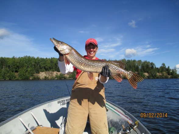 Photo of Pike Caught by Carla with Mepps Syclops in Ontario
