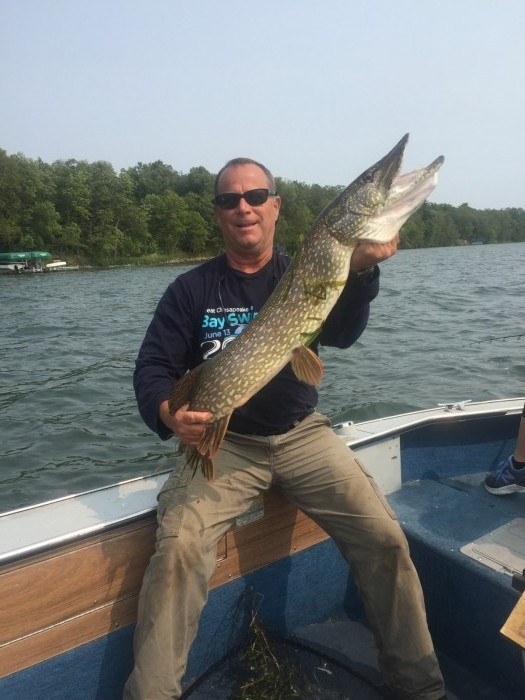 Photo of Pike Caught by Bob with Mepps Black Fury in Minnesota