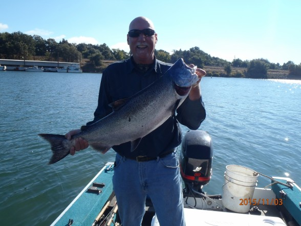 Photo of Salmon Caught by Larry with Mepps Flying C in California