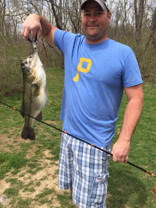 Photo of Bass Caught by Charles with Mepps Black Fury in Pennsylvania