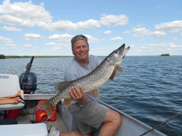 Photo of Pike Caught by Thomas with Mepps Syclops in Ontario