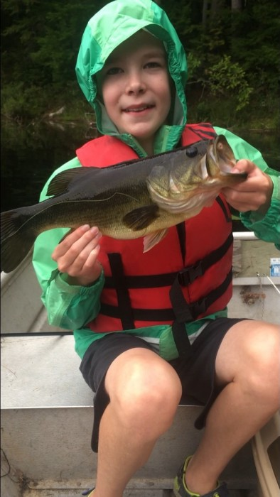 Photo of Bass Caught by Gavin with Mepps Aglia & Dressed Aglia in Maine