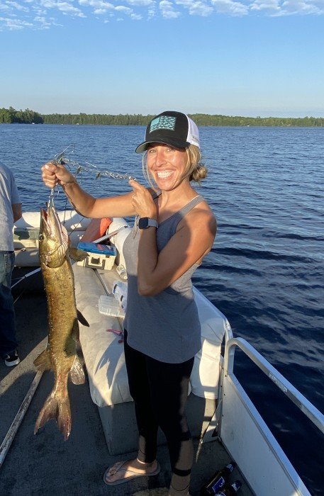 Photo of Musky Caught by Steph with Mepps Aglia & Dressed Aglia in Wisconsin
