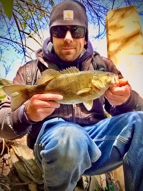 Photo of Bass Caught by Alex with Mepps Aglia & Dressed Aglia in Illinois