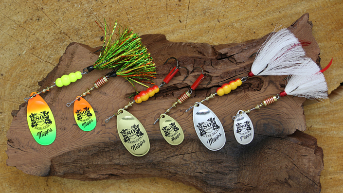 Display of 80th Anniversary Lures